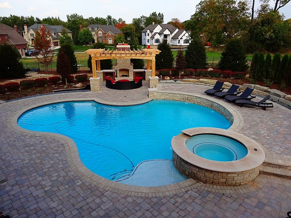 luxury pool for backyard